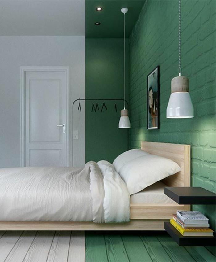 chambre-a-coucher-sol-couleur-blanc-et-vert-double-couleur ...
